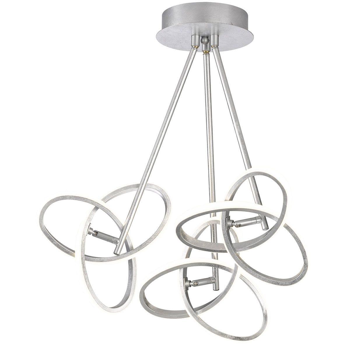 Wofi Eliot 3-LED Flush Fitting Pendant Lamp - Silver
