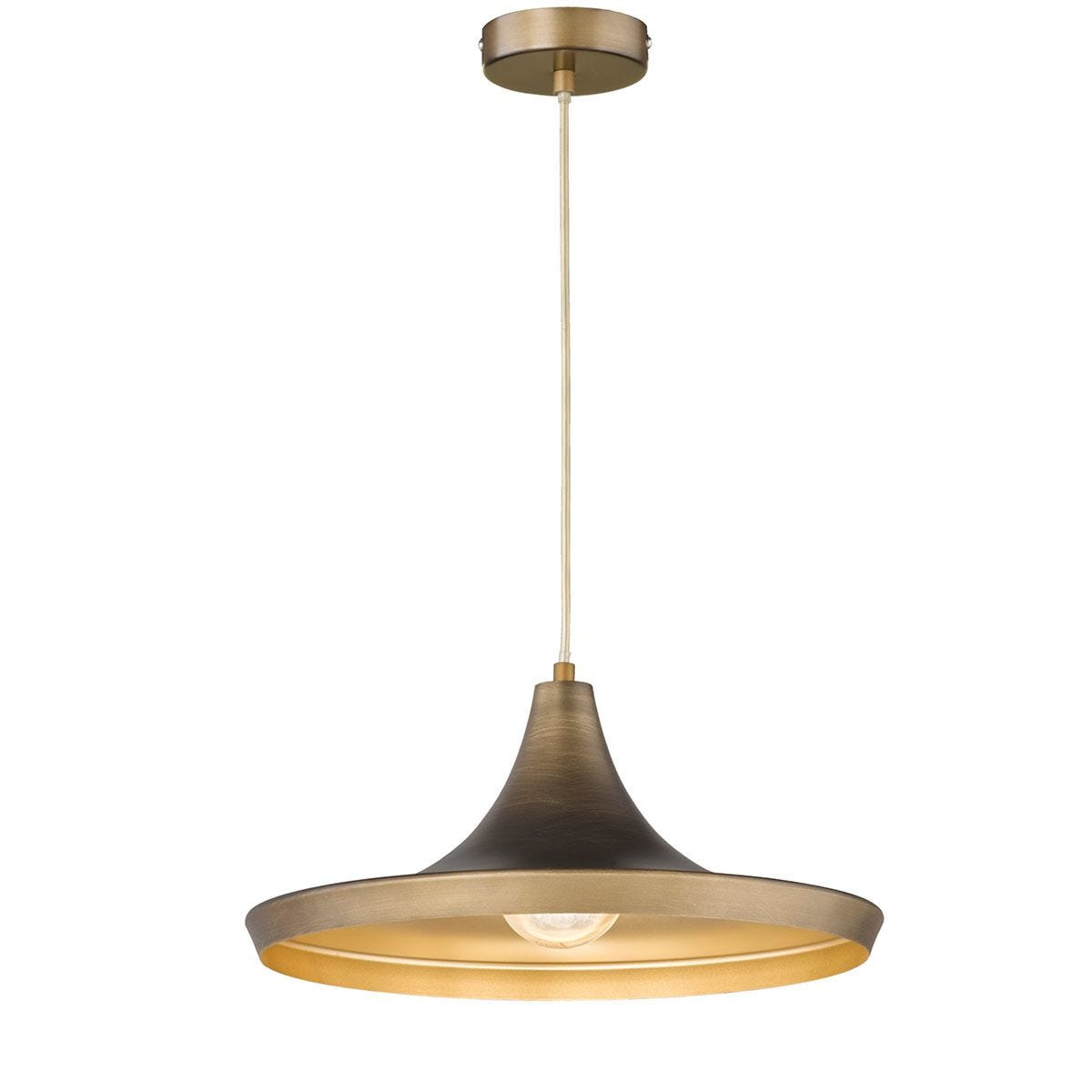 Wofi Erin Pendant Ceiling Light - Brown