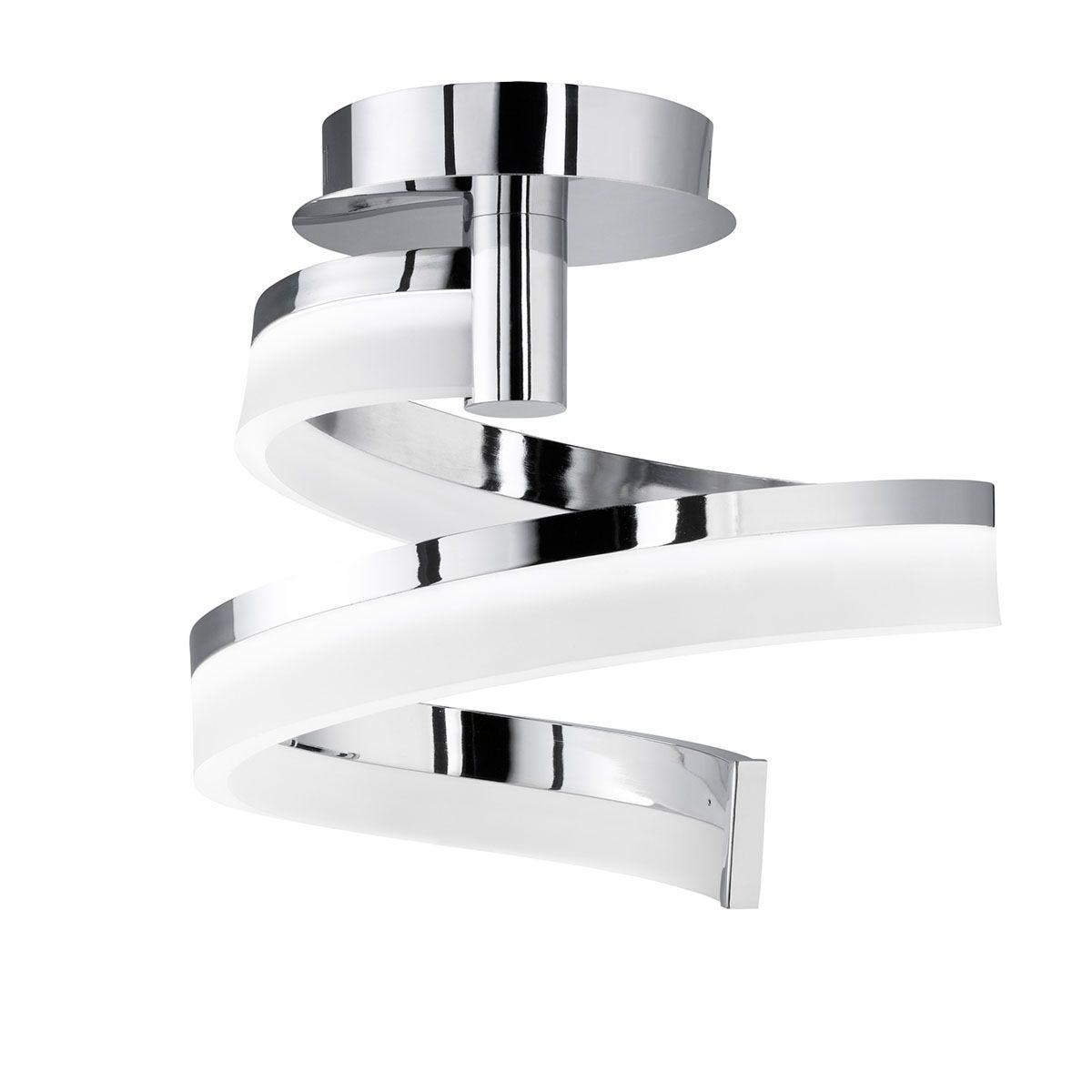 Wofi Fare LED Flush Fitting Ceiling Lamp - Chrome