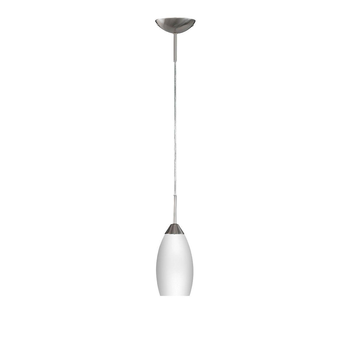 Wofi Flame Pendant Ceiling Light - Nickel Matt Finish