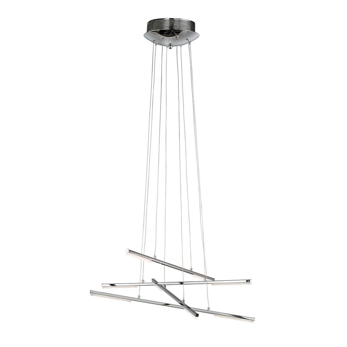 Wofi Forte 8-LED Pendant Lamp - Chrome