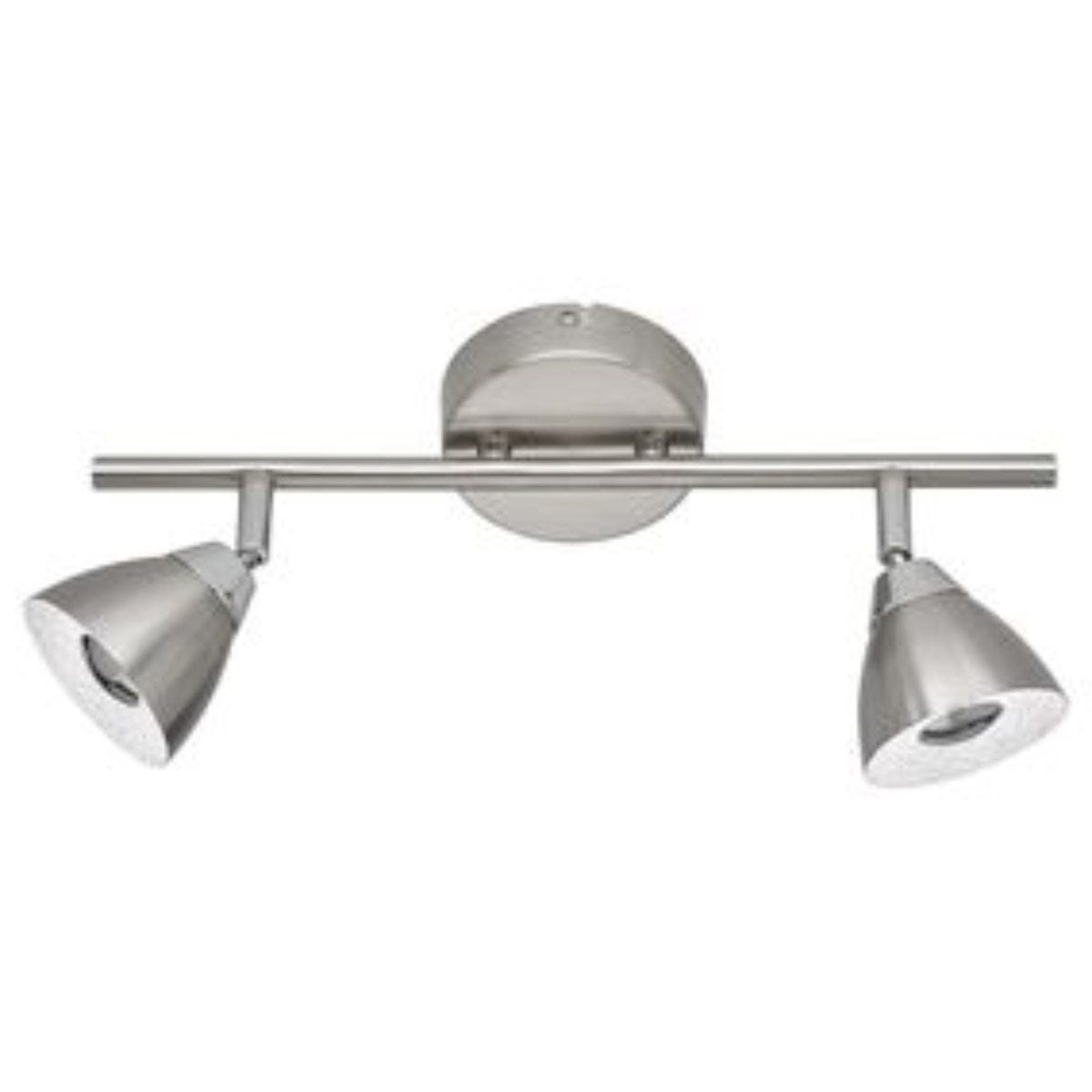 Wofi Fres 2 LED Pendant Bar/Spotlight - Nickel Matt Finish