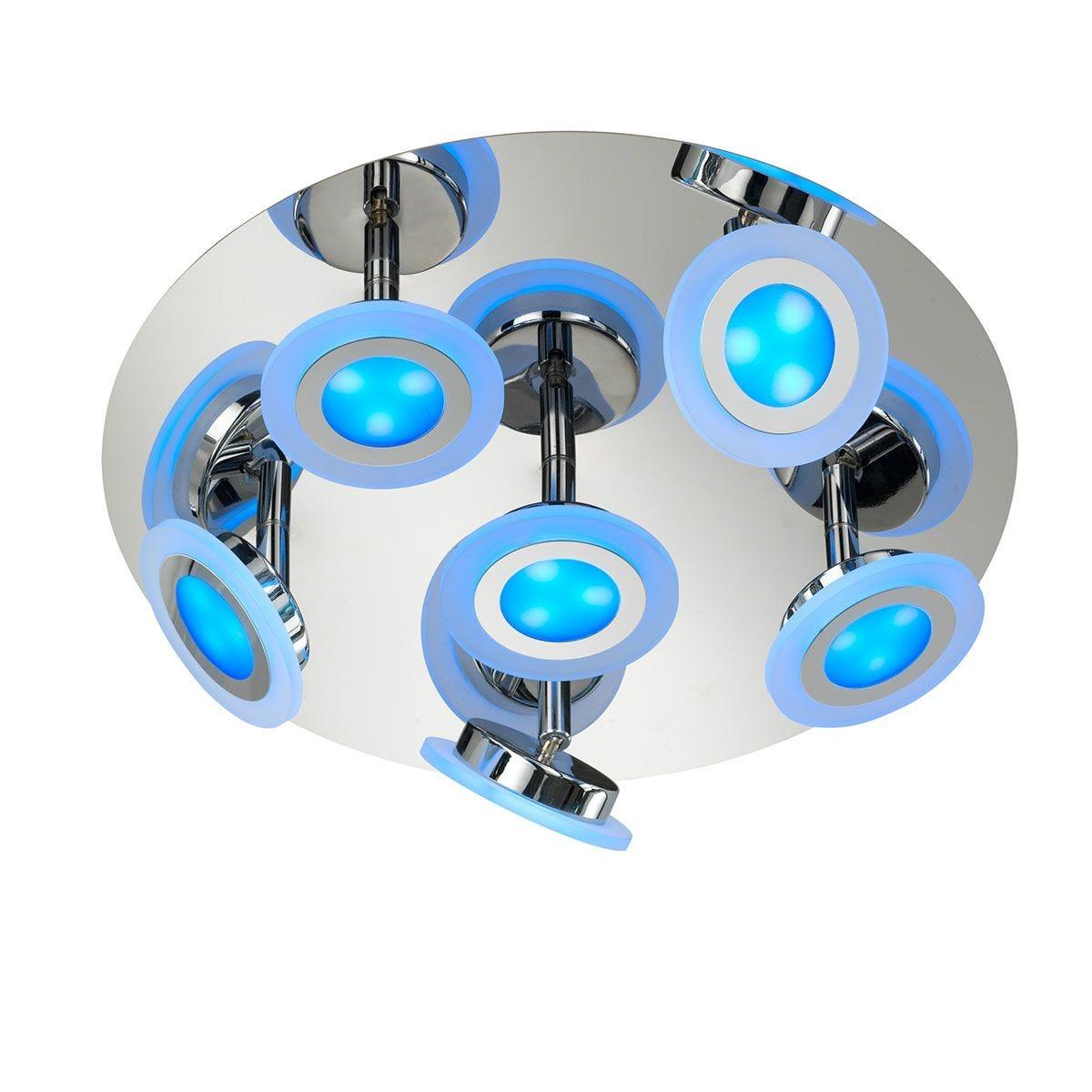 Wofi Gemma 6-LED Ceiling Lamp - Chrome