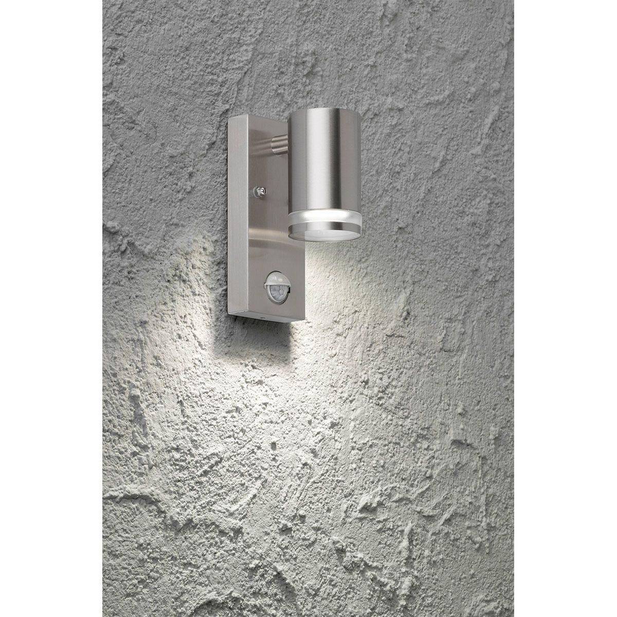 Wofi Gentara Wall Lamp - Brushed Stainless Steel
