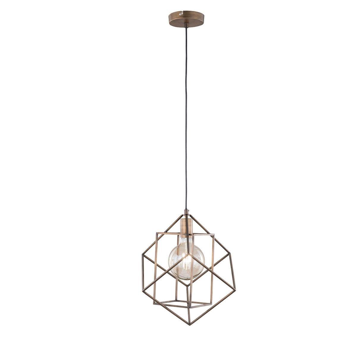Wofi Girona Pendant Ceiling Light - Golden