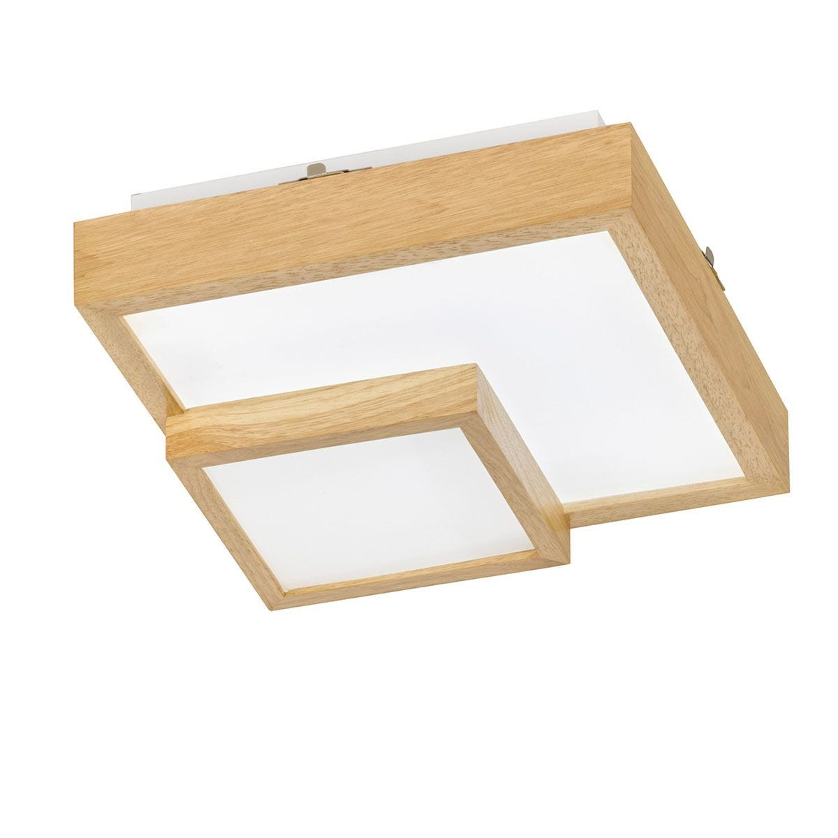 Wofi Hudson LED Ceiling Lamp - Wooden
