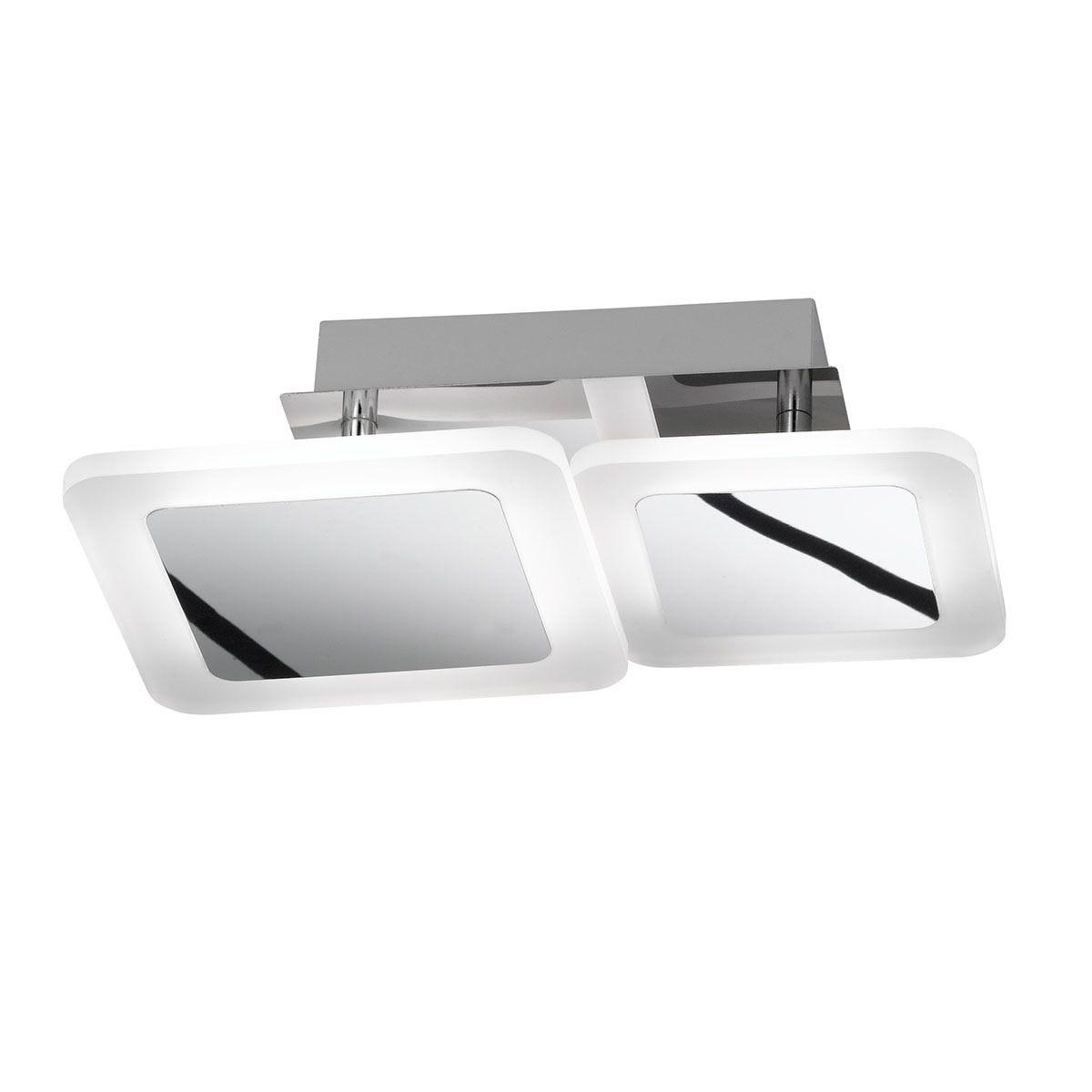Wofi Impuls LED Ceiling Lamp - Chrome