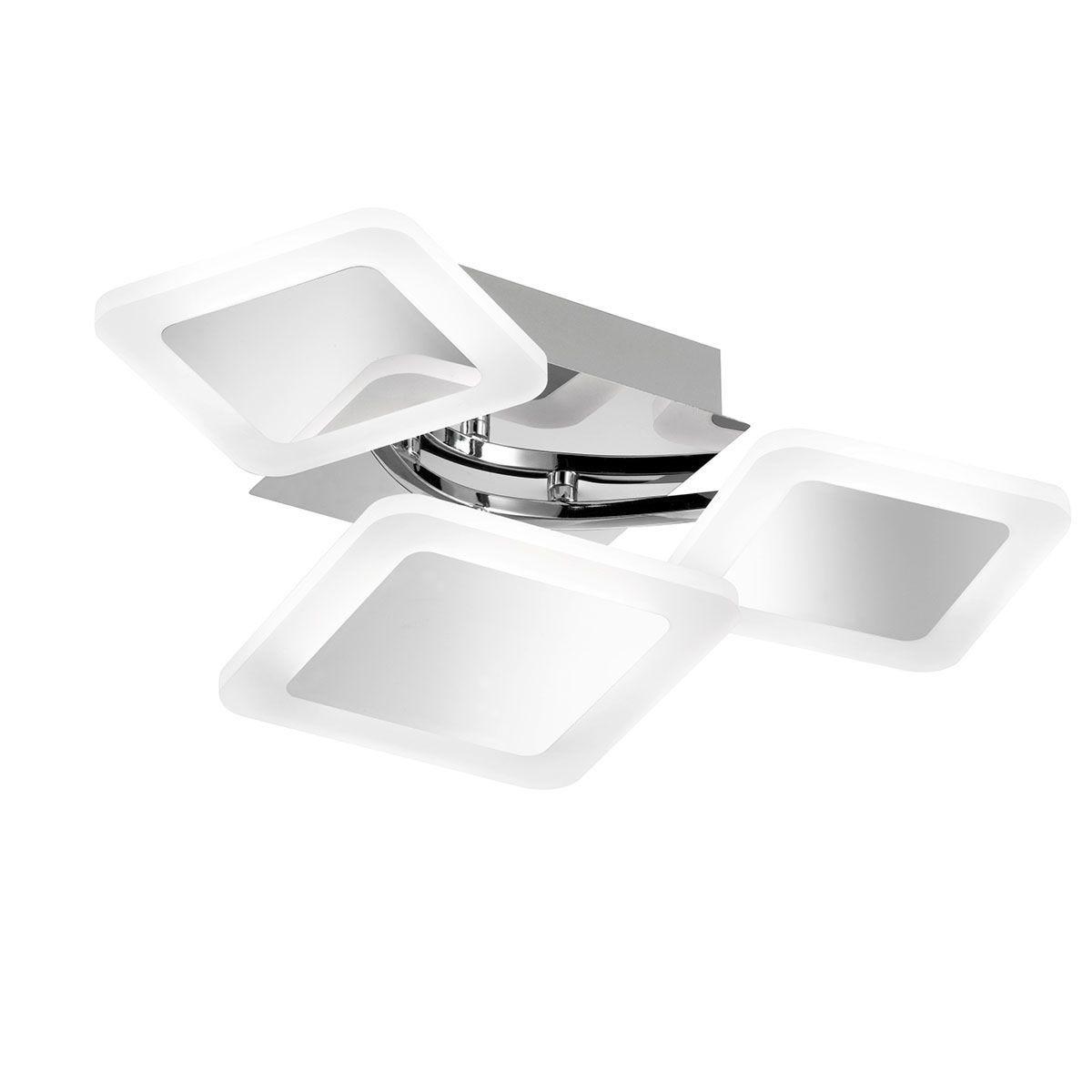 Wofi Impuls Ceiling Lamp  - Chrome - LED (23W)