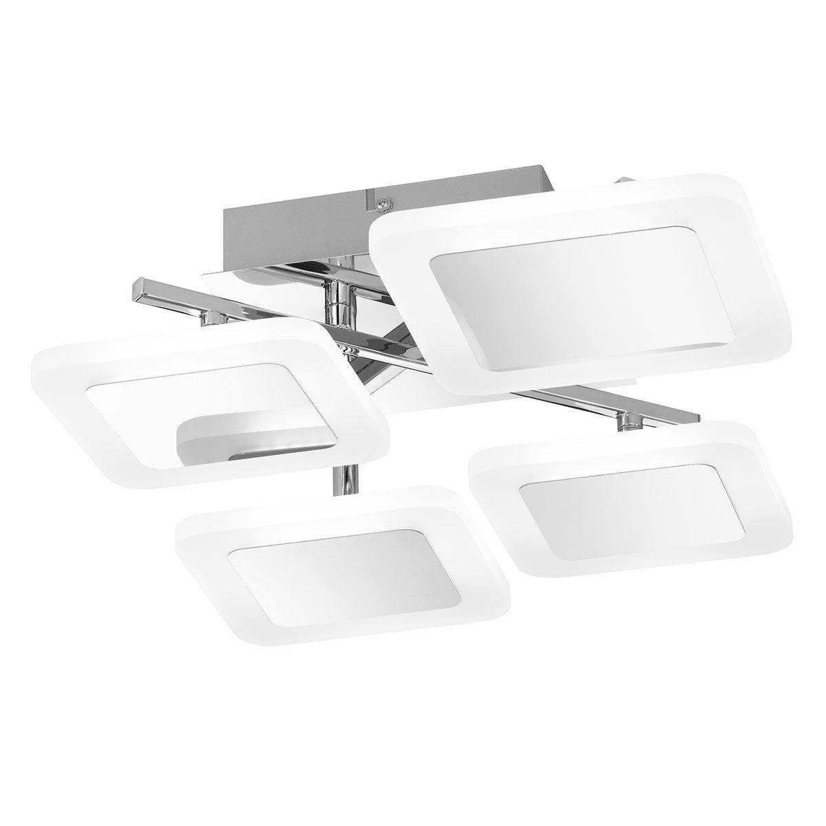 Wofi Impuls Ceiling Lamp - Chrome - LED (28W)