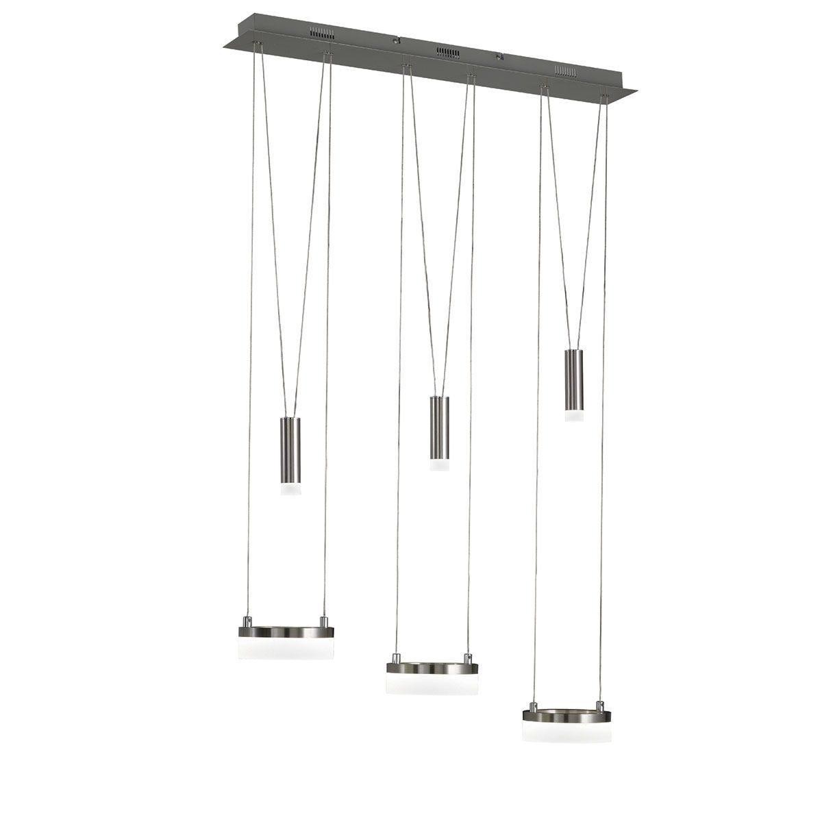 Wofi Jesse 3-LED Pendant Bar/Spotlight - Nickel Matt Finished & Chrome
