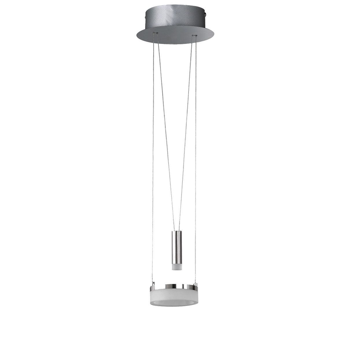 Wofi Jesse LED Pendant Ceiling Light - Nickel Matt Finish