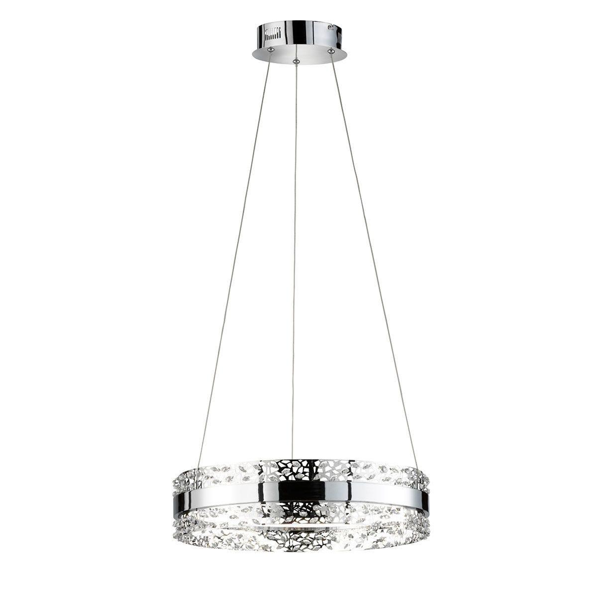 Wofi Kris LED Pendant Lamp - Chrome