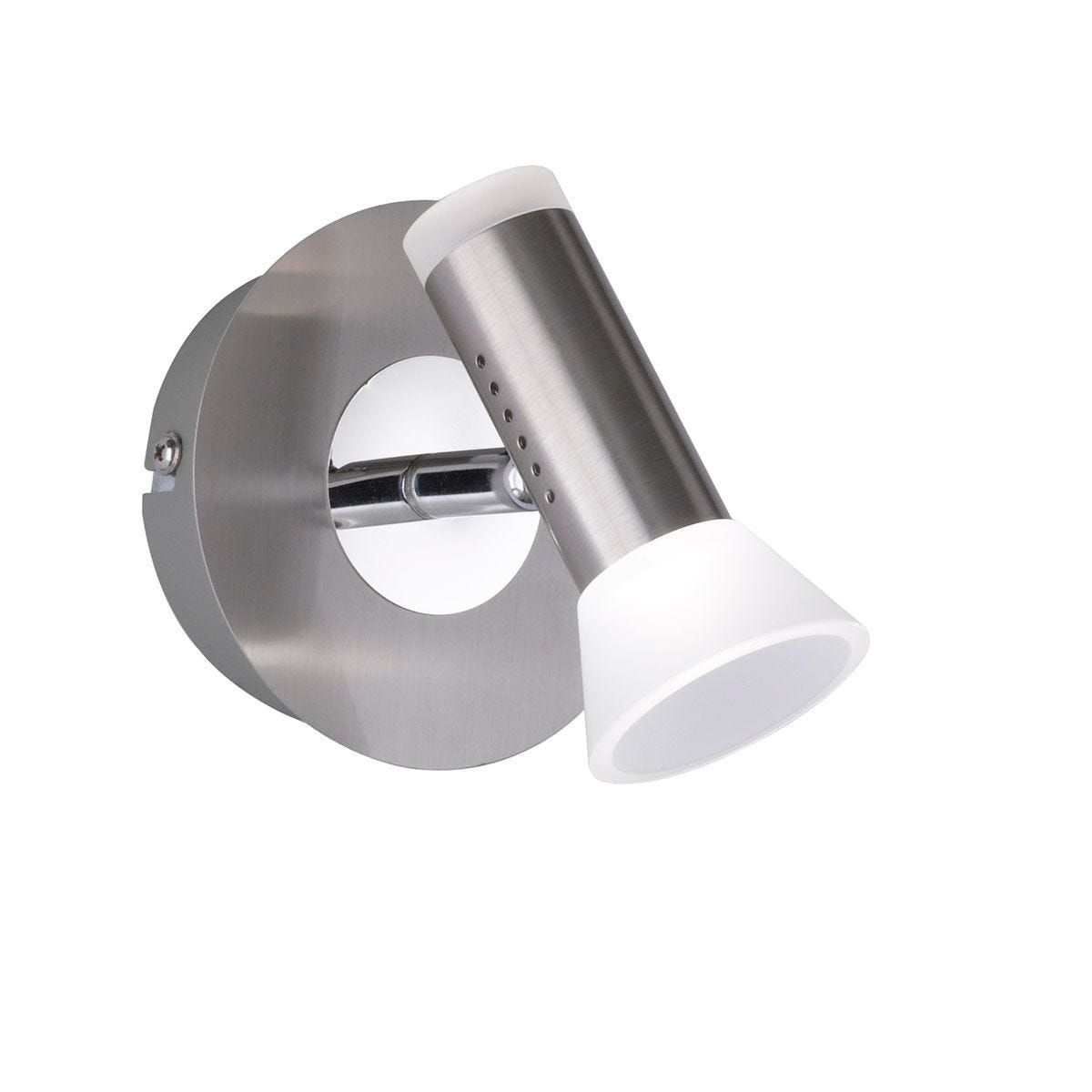 Wofi Lana LED Wall Lamp - Nickel Matt Finish & Chrome