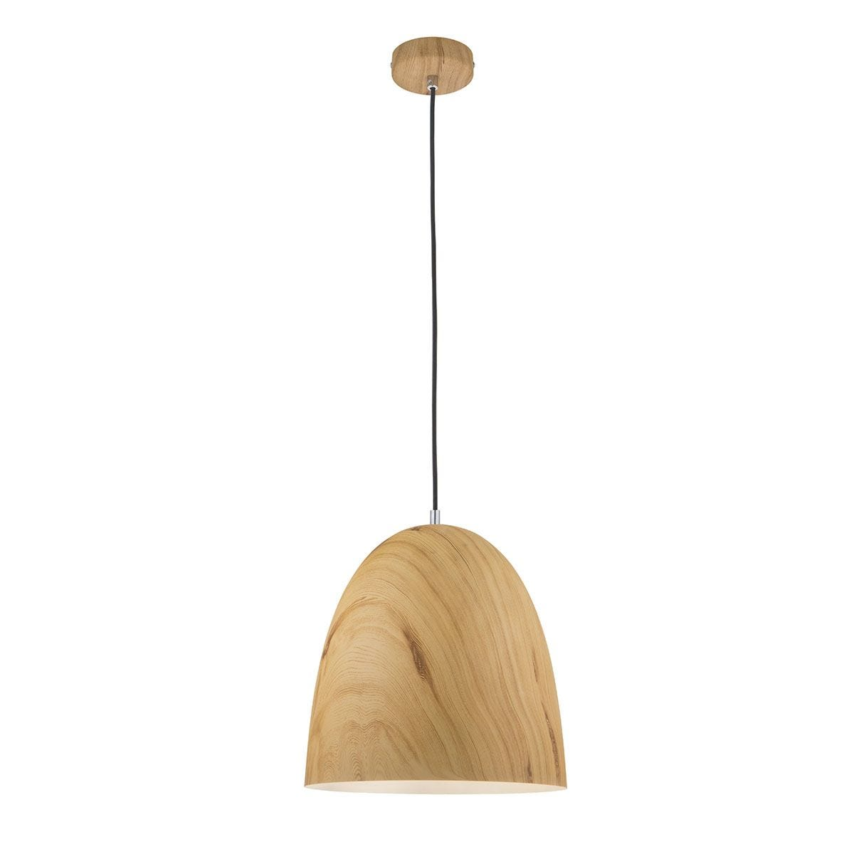 Wofi Liam 31cm Diameter Pendant Ceiling Light - Wood Effect