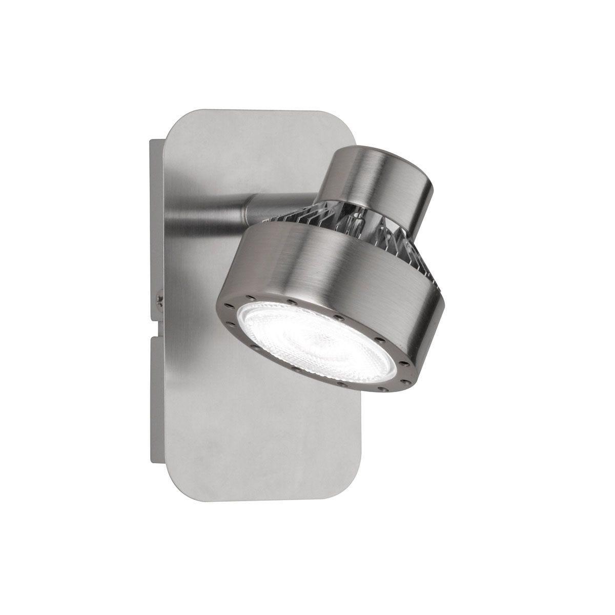 Wofi Local LED Wall Lamp - Nickel Matt Finish & Chrome