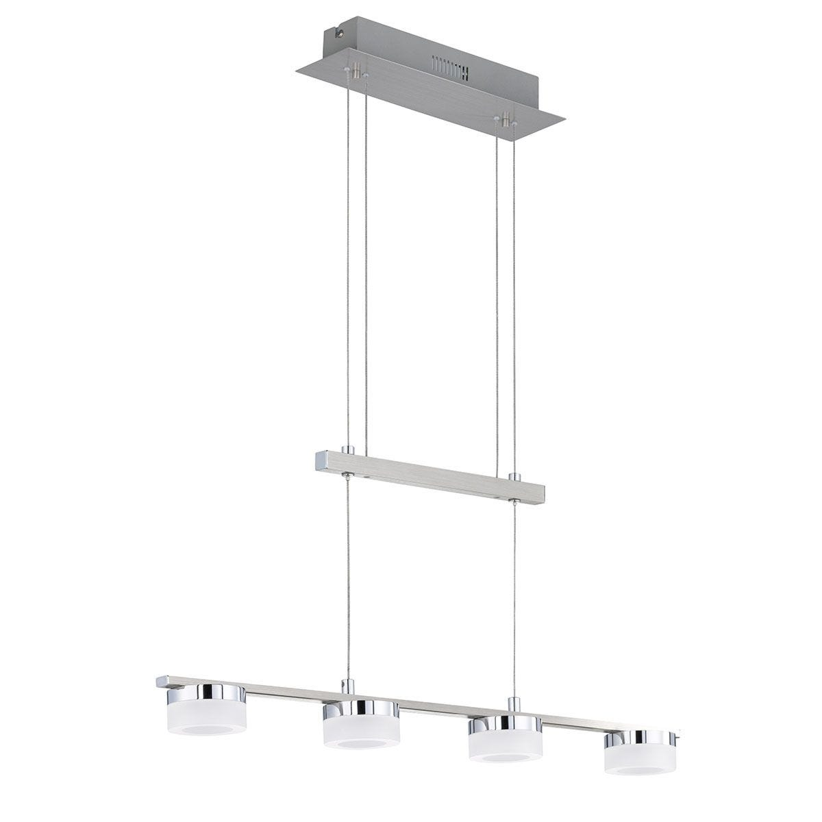 Wofi Logan 4-LED Pendant Bar/Spotlight -Nickel Matt Finished & Chrome