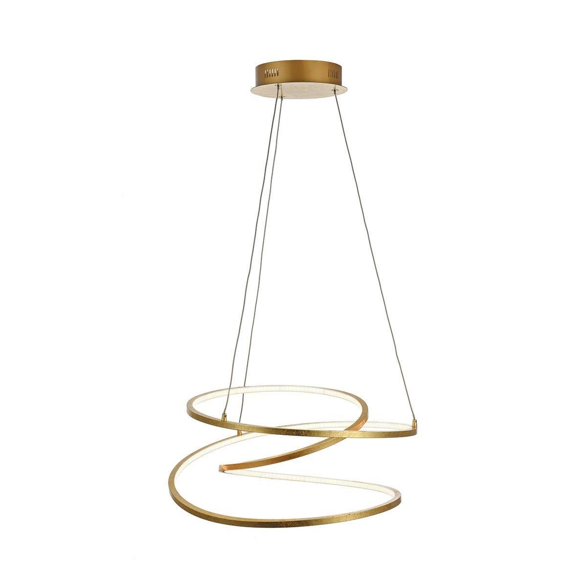 Wofi Loris Pendant Light - Golden - LED (48W)