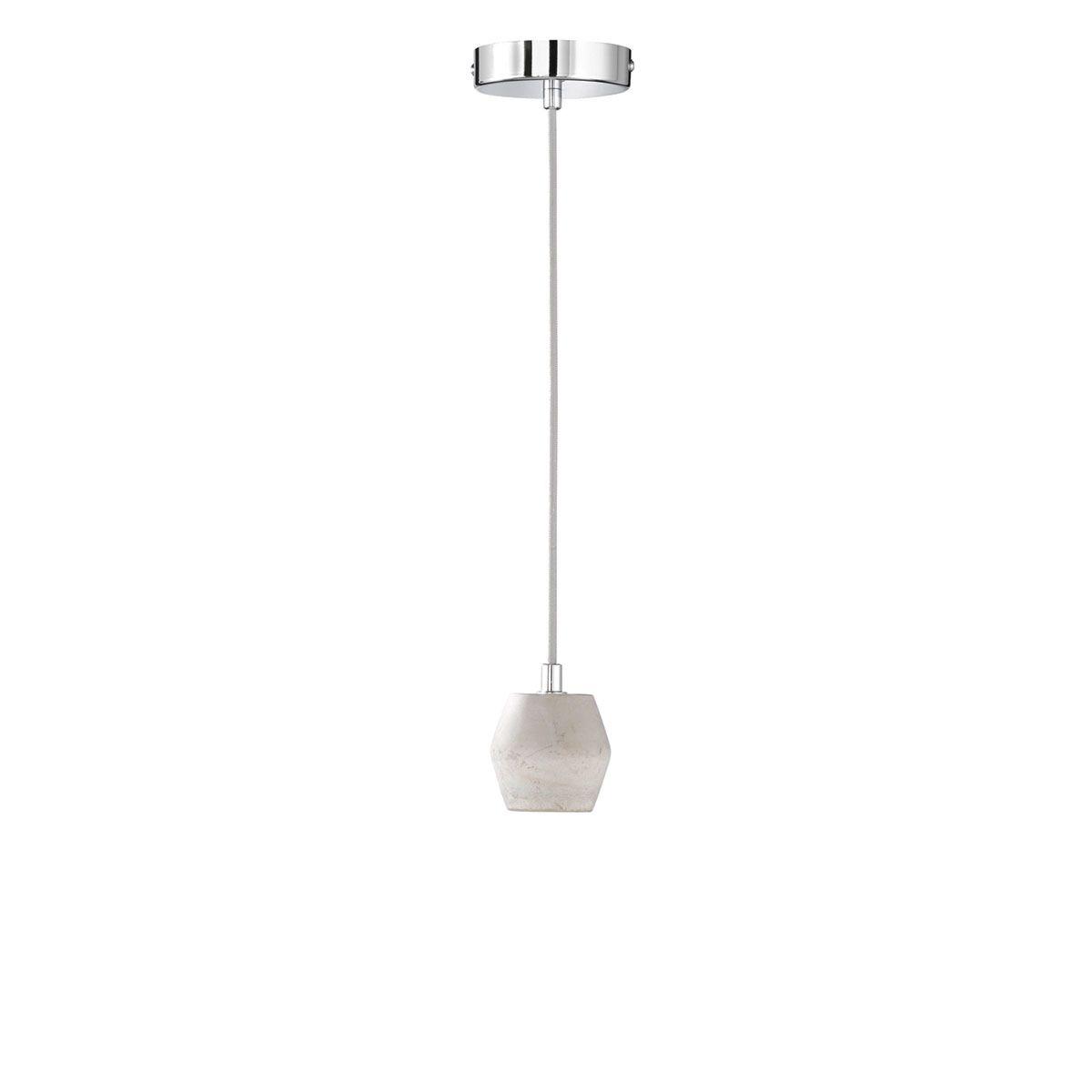 Wofi Luum Pendant Ceiling Light - Grey