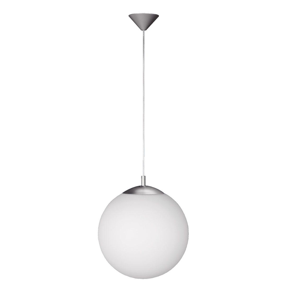 Wofi Point Pendant Light 35cm Diameter -  Nickel Matt Finish