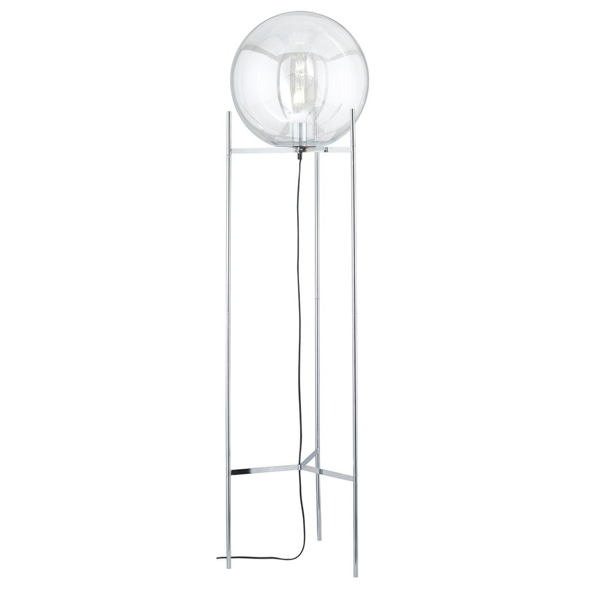 Wofi Ronda Floor Lamp - Chrome