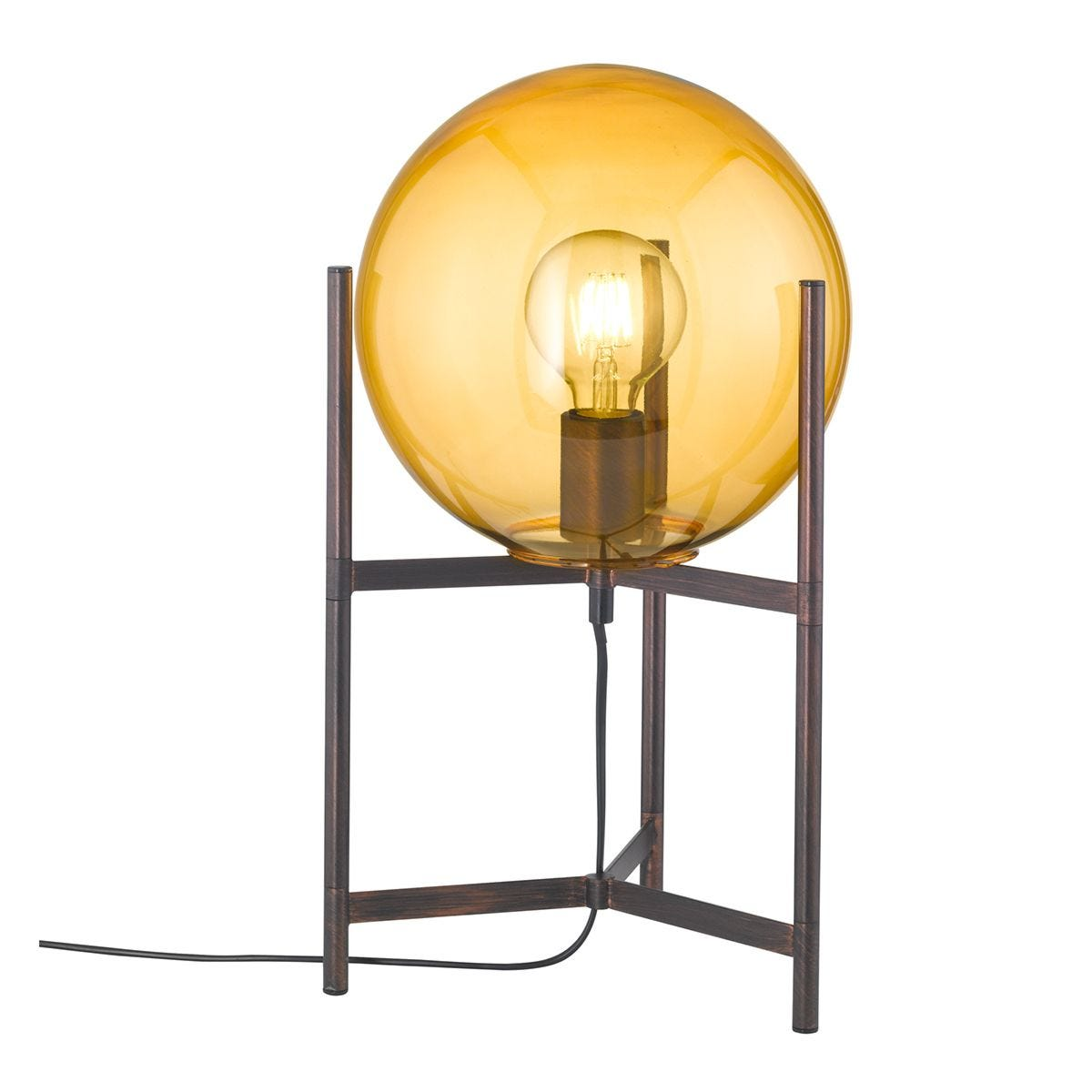 Wofi Ronda Table Lamp - Antique Brown