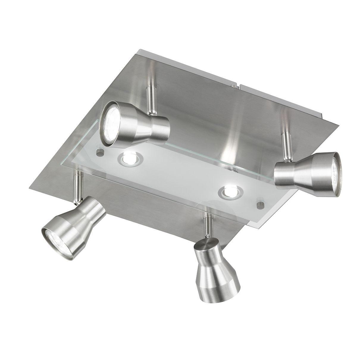Wofi Rox Ceiling Lamp - Nickel