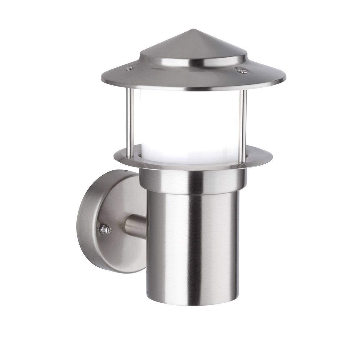 Wofi Salerno Wall Lamp - Stainless Steel