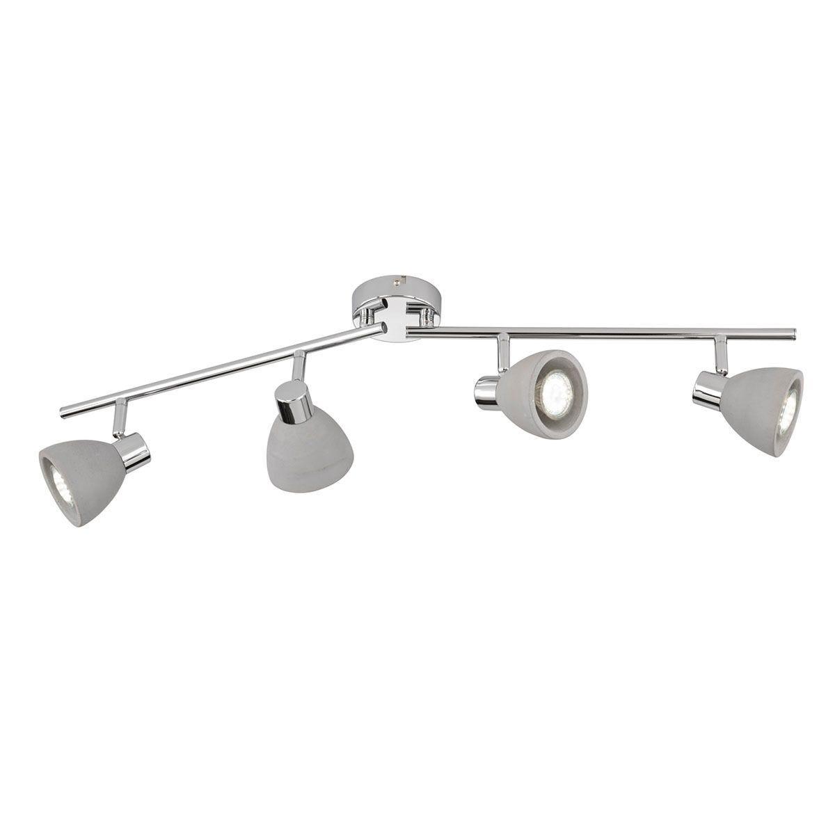 Wofi Veria 4 Lamp Ceiling Light - Grey