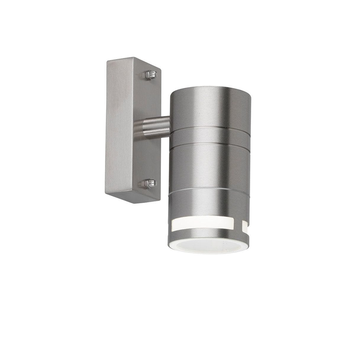 Wofi Vilano Wall Lamp - Brushed Stainless Steel