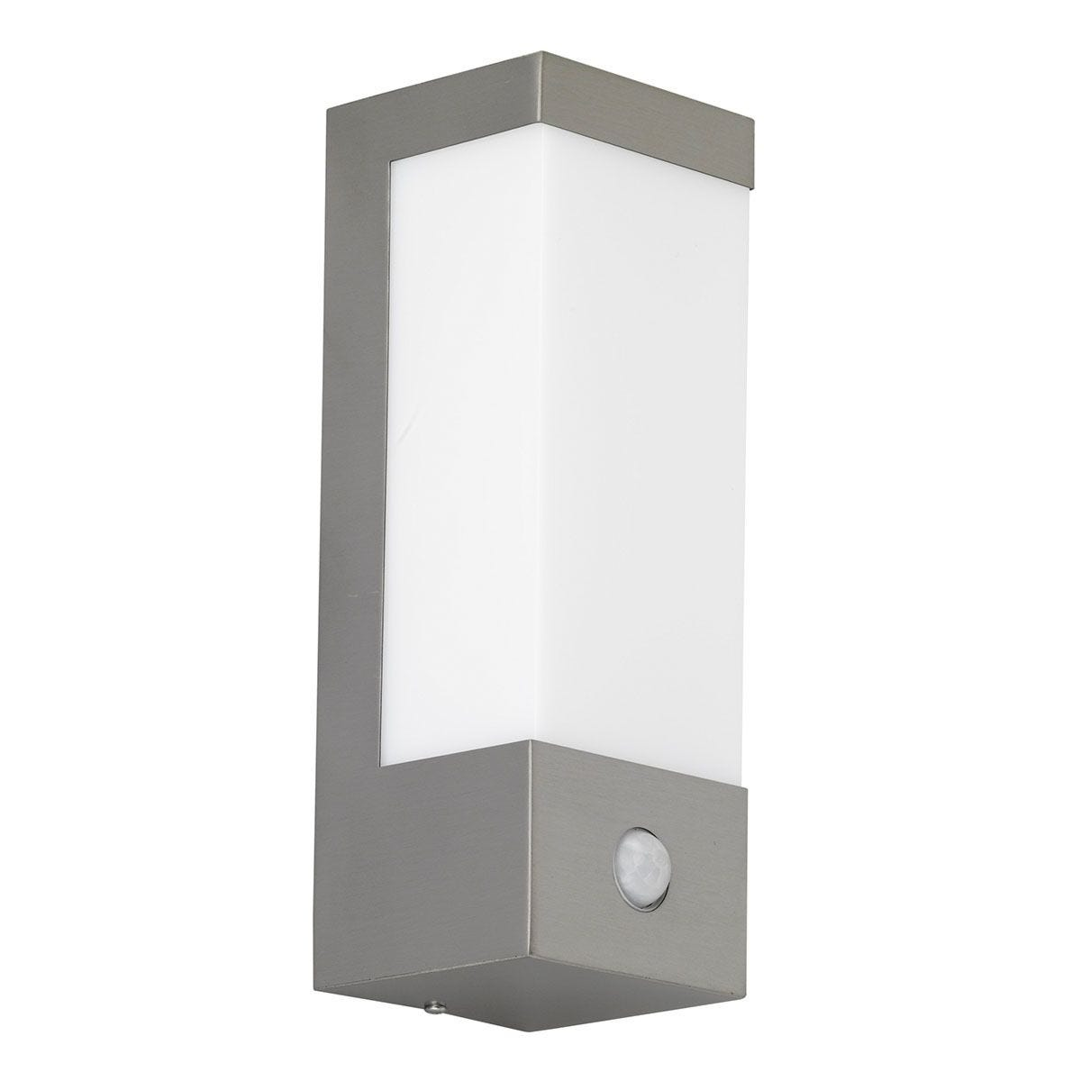 Wofi Vir LED Wall Lamp - Brushed Stainless Steel