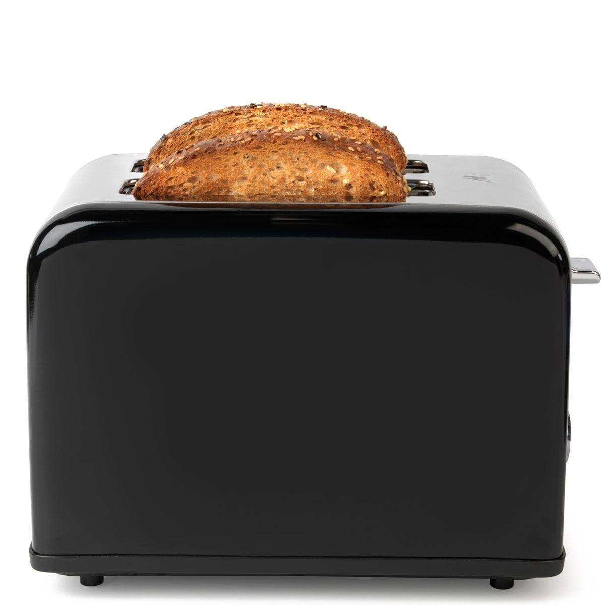 Salter EK3399BLACK Riga 815W 2-Slice Toaster - Black and Stainless Steel