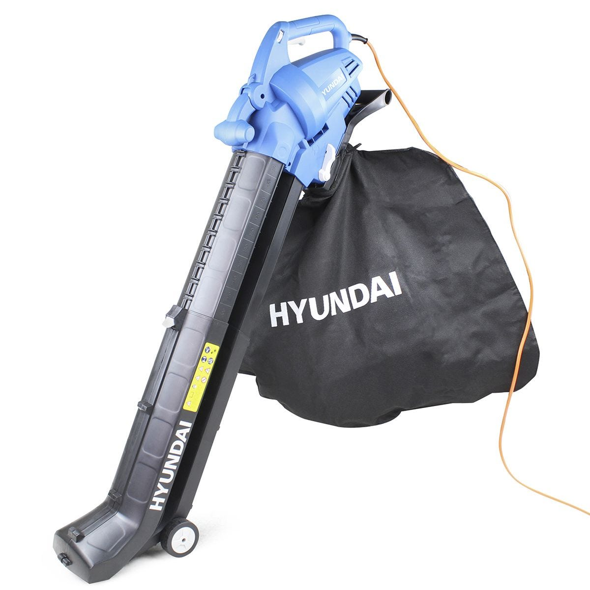 Hyundai HYBV3000E 3000W 3-in-1 Leaf Blower, Garden Vacuum & Shredder with Large 45L Collection Bag and Long 15m Cable