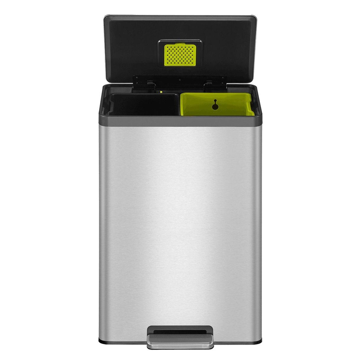 EKO Ecocasa II Recycling Bin 40L - Stainless Steel
