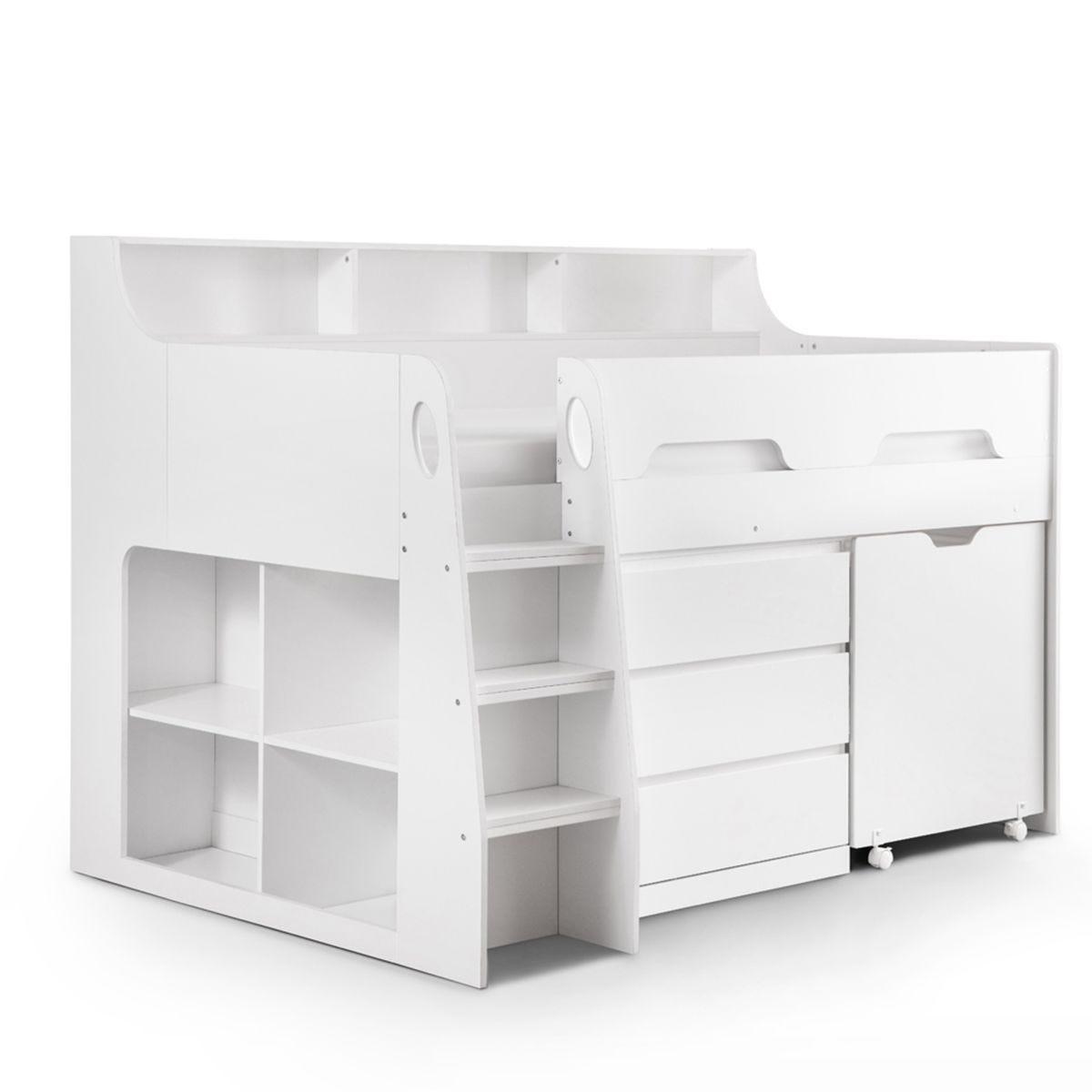 Julian Bowen Jupiter Midsleeper Bed - White
