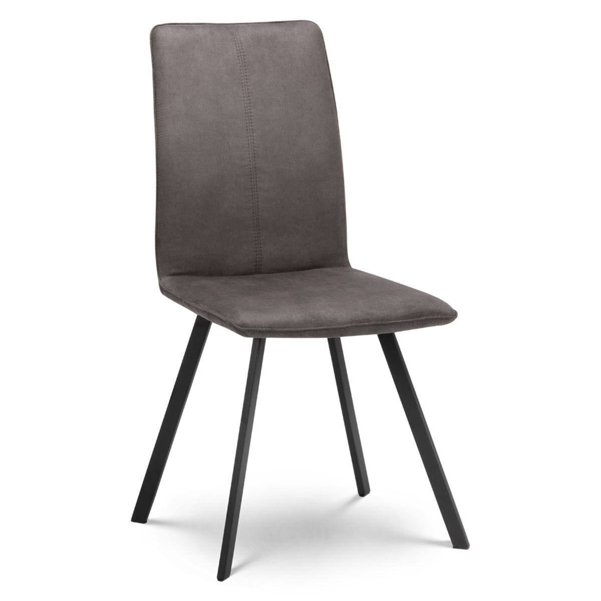 Julian Bowen Monroe Fabric Dining Chairs - 2pk