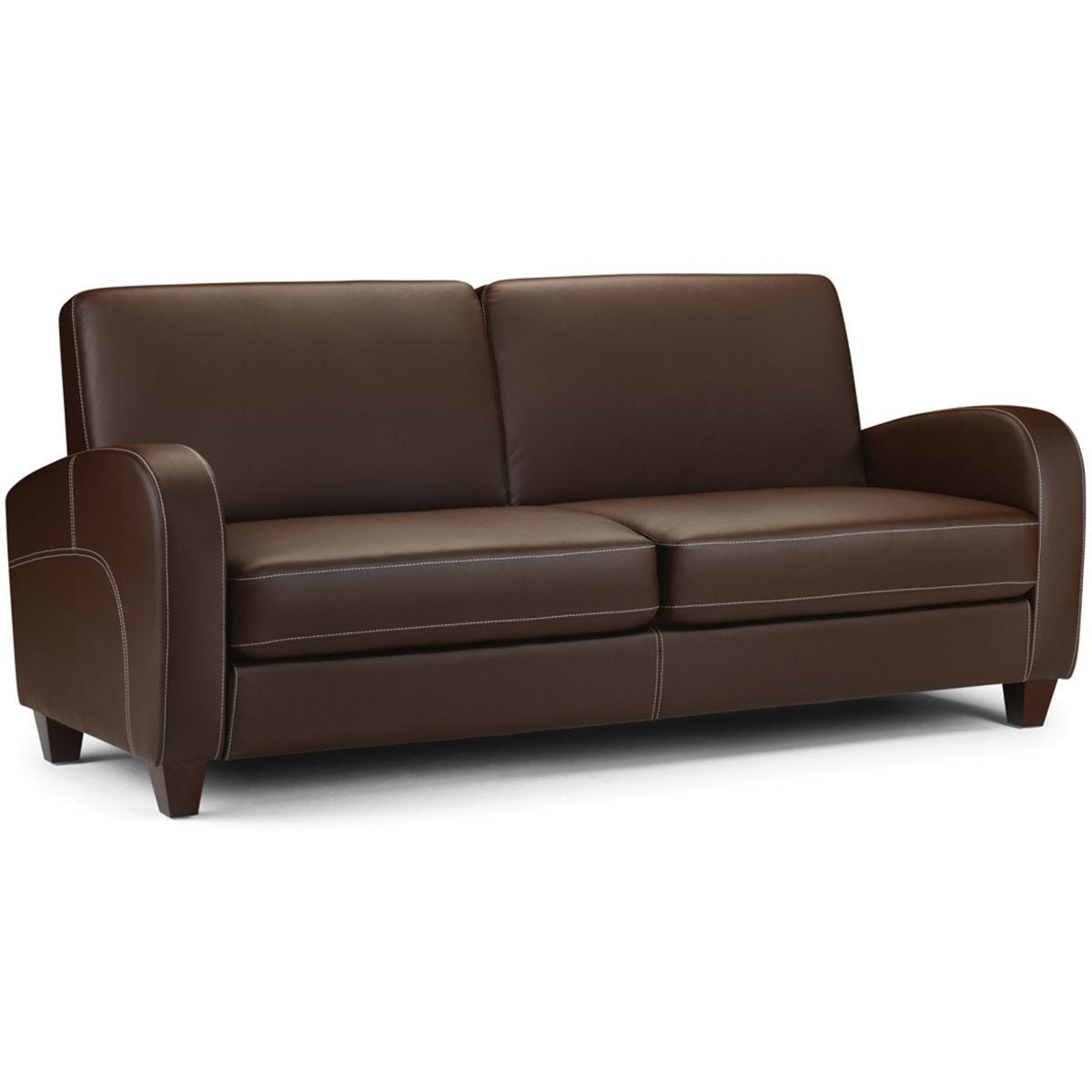 Julian Bowen Vivo 3 Seater Sofa - Chestnut Faux Leather
