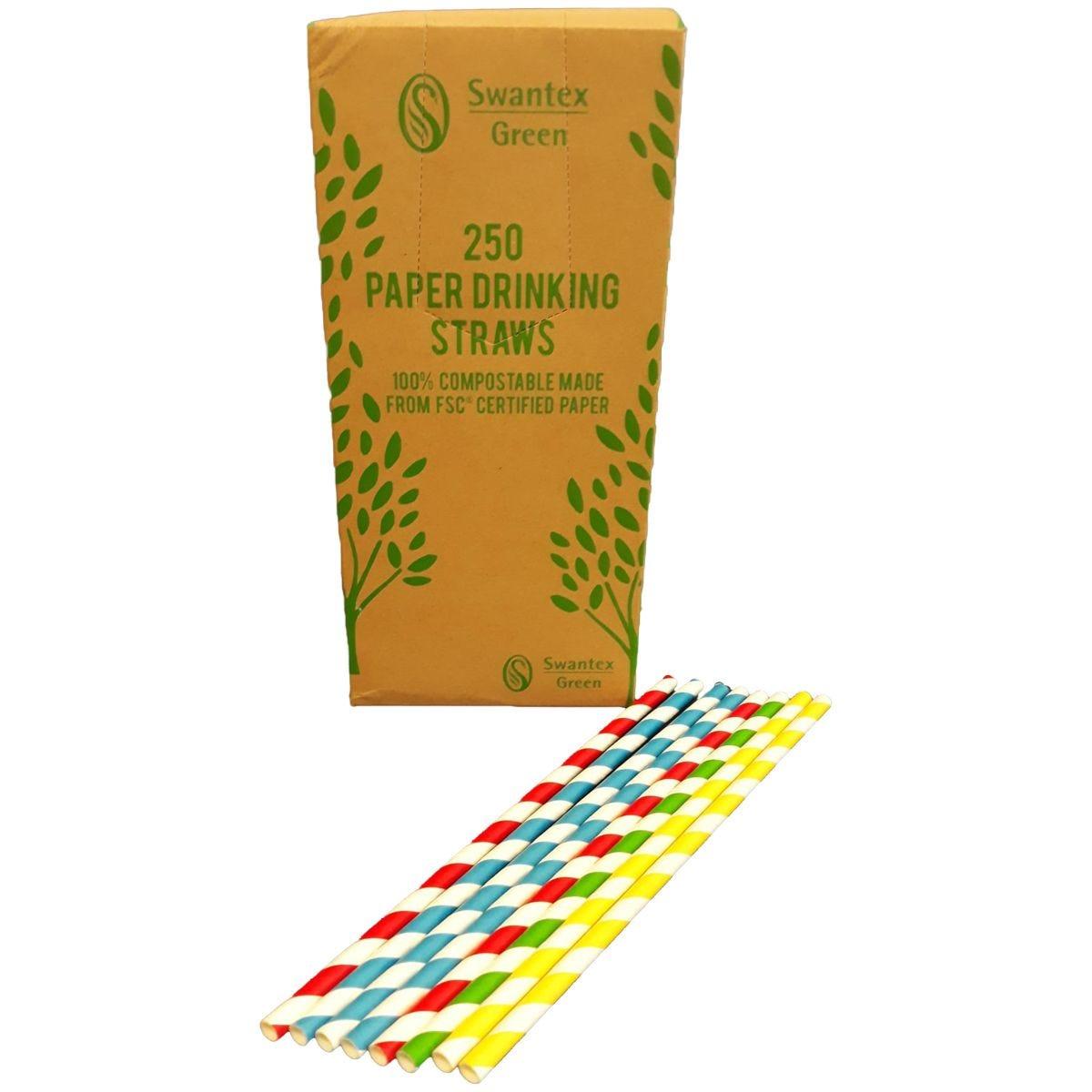 Swantex Paper Straws - 250pk