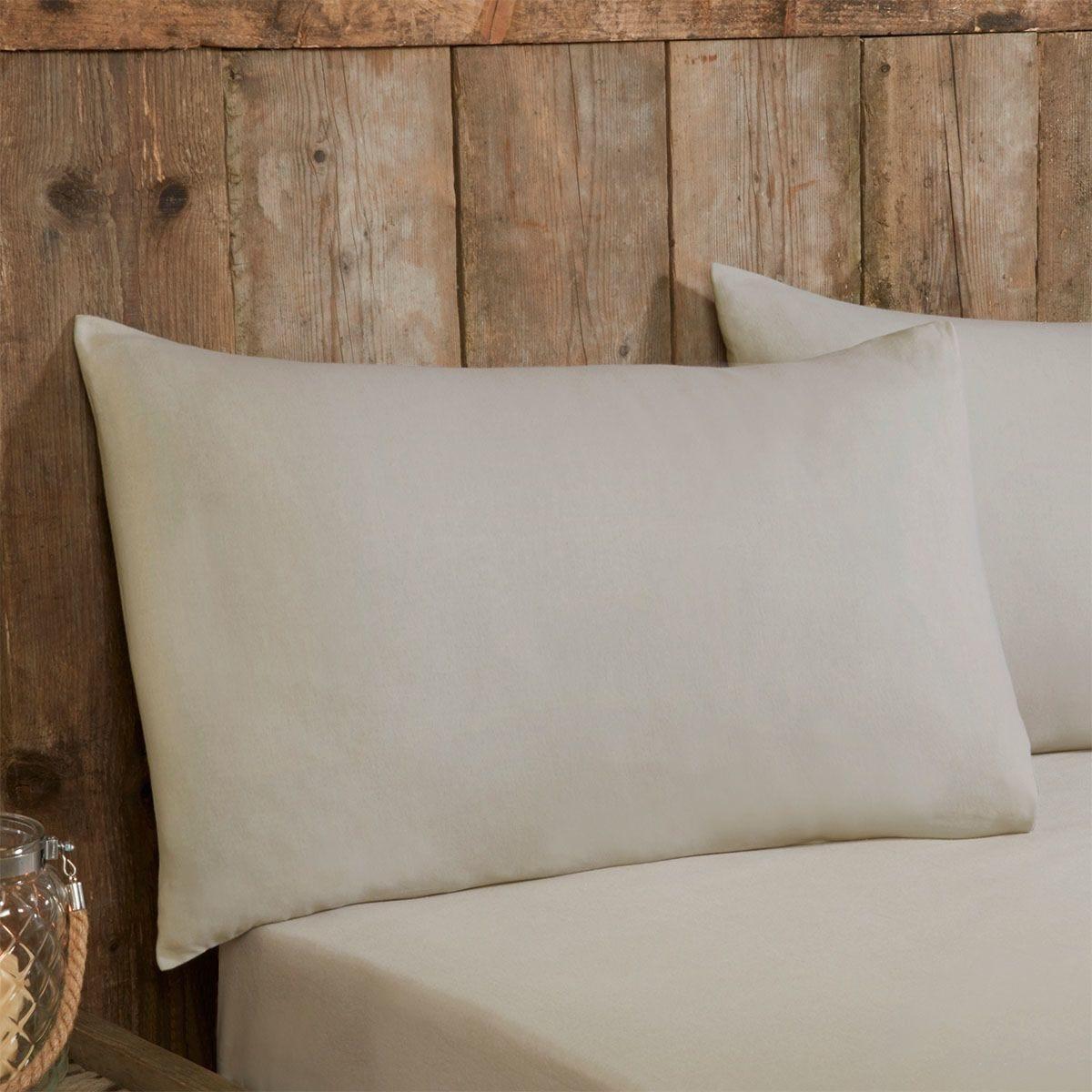 Silentnight Plain Pillowcases Pair - Natural