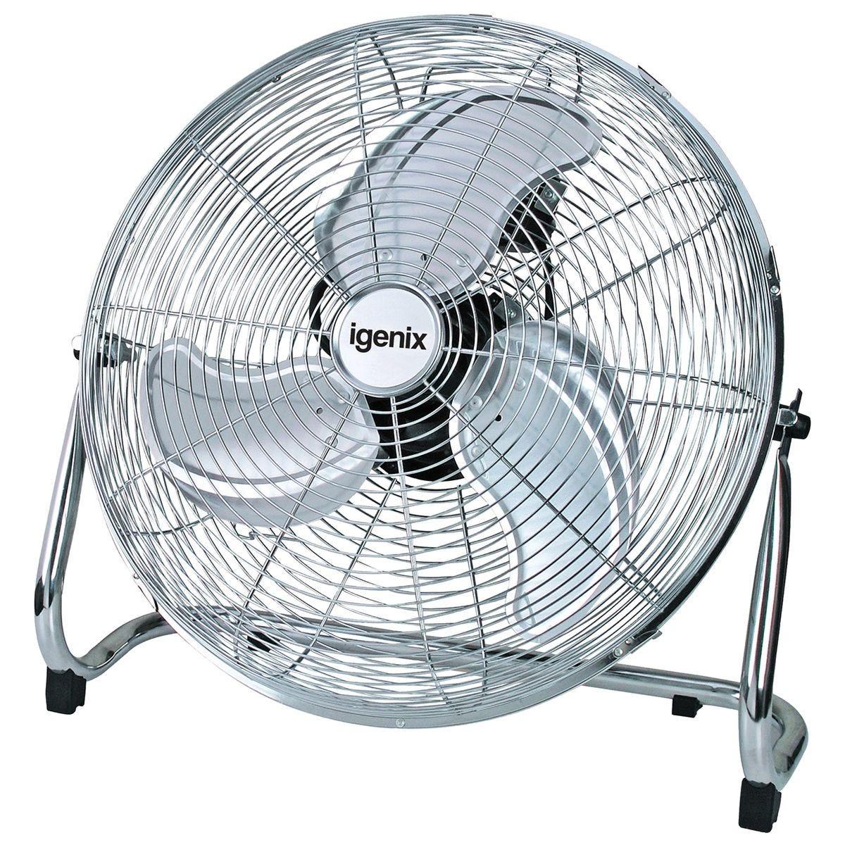 Igenix 18 Inch Floorstanding Air Circulator Fan - Chrome