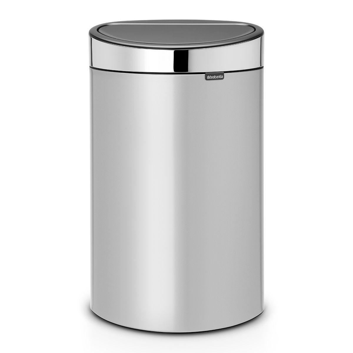 Brabantia 40L Touch Bin - Metallic Grey