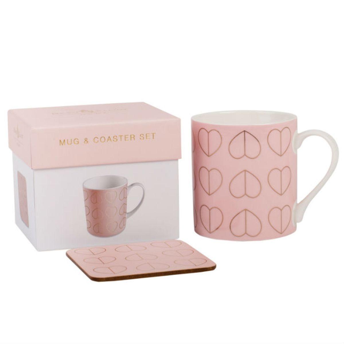Beau & Elliot Champagne Edit Blush Mug & Coaster Set