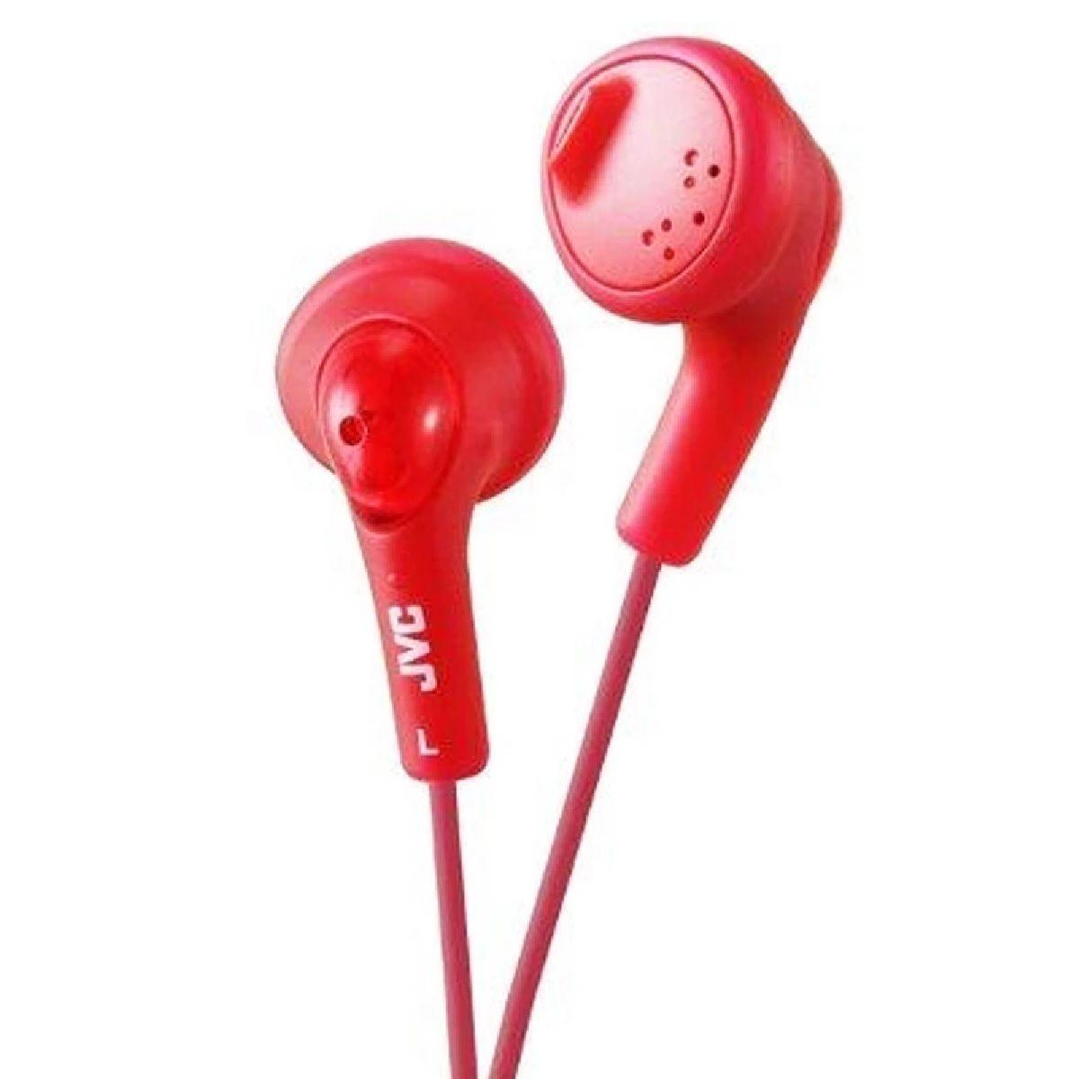 JVC Gumy In-Ear Audio Headphones - Red