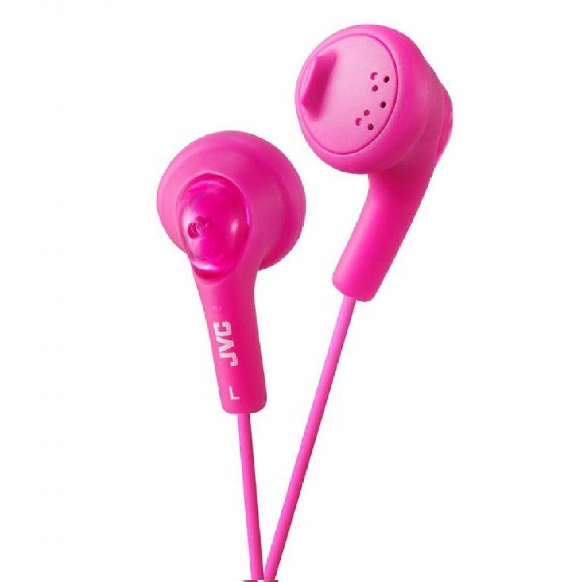 JVC Gumy In-Ear Audio Headphones - Pink