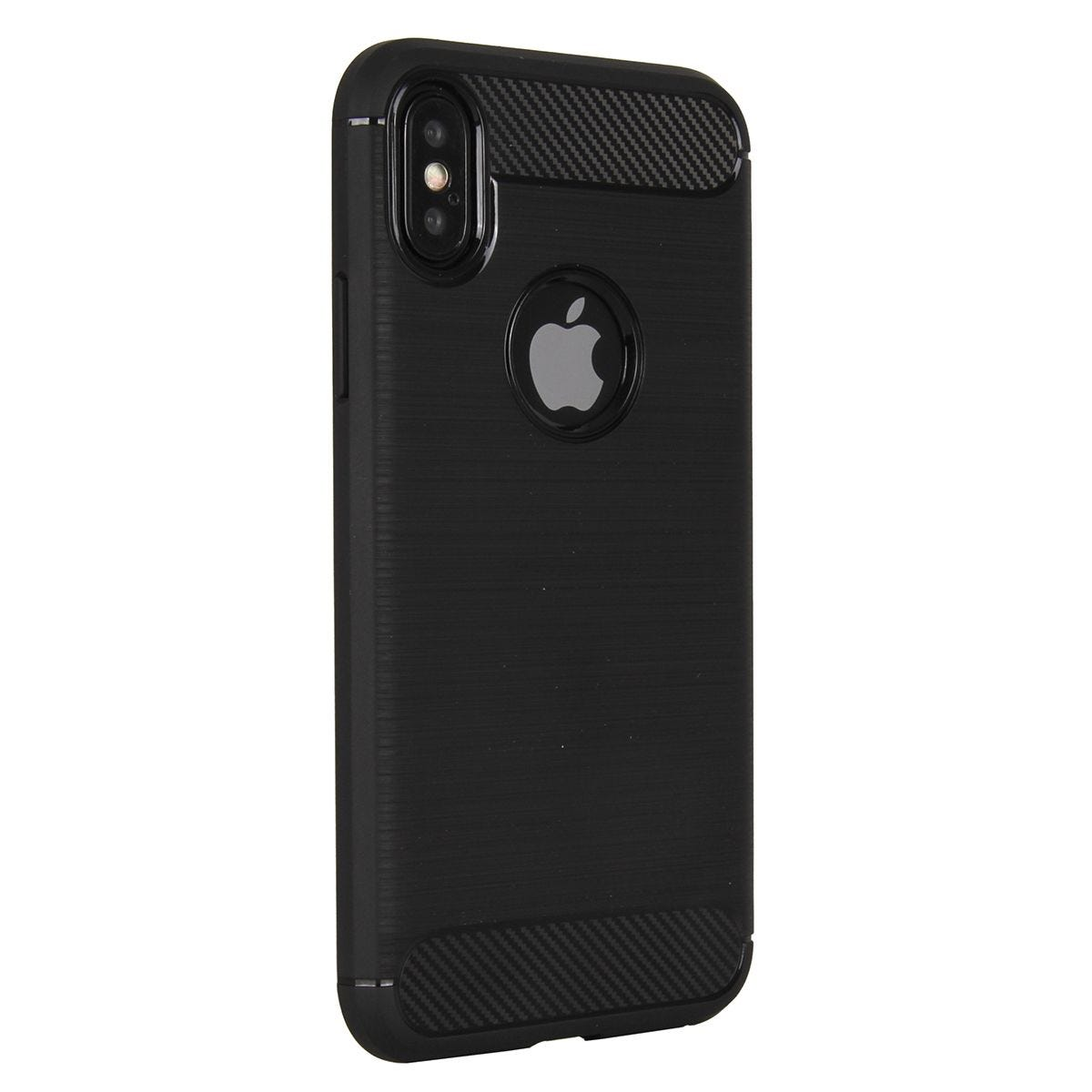 Case Brushed Carbon Black for iPhone X