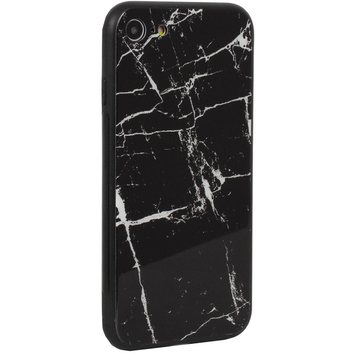 Case Luxe Black White Marble for iPhone 7/8
