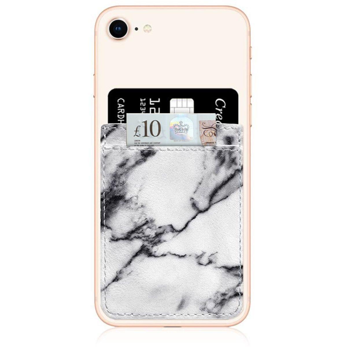 iDecoz White Marble Phone Pocket
