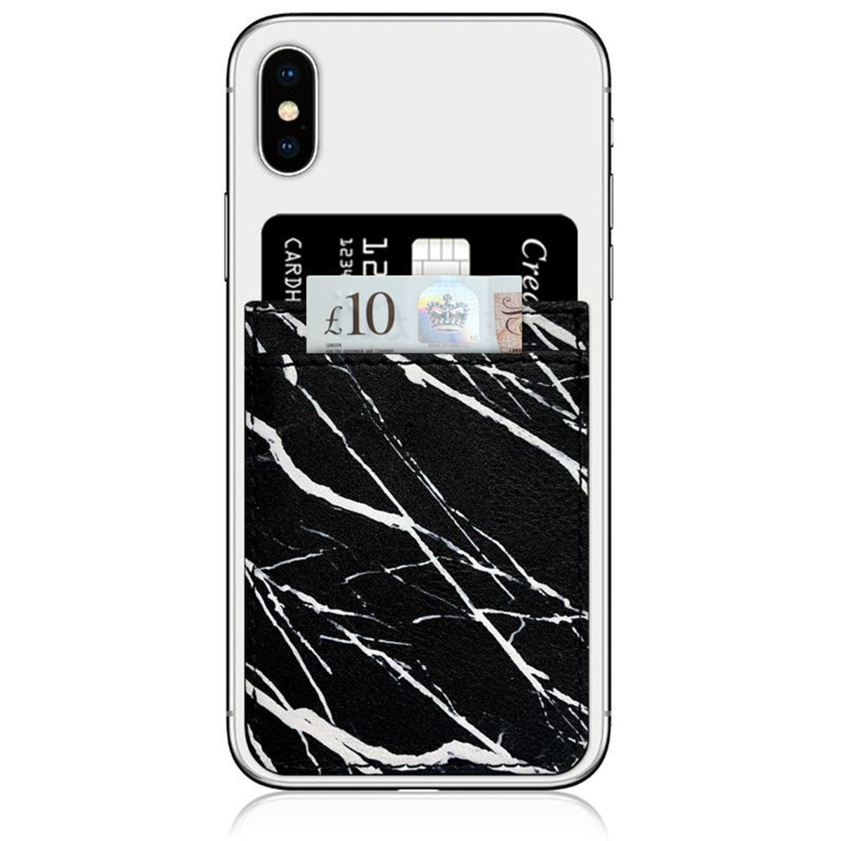 iDecoz Black Marble Phone Pocket