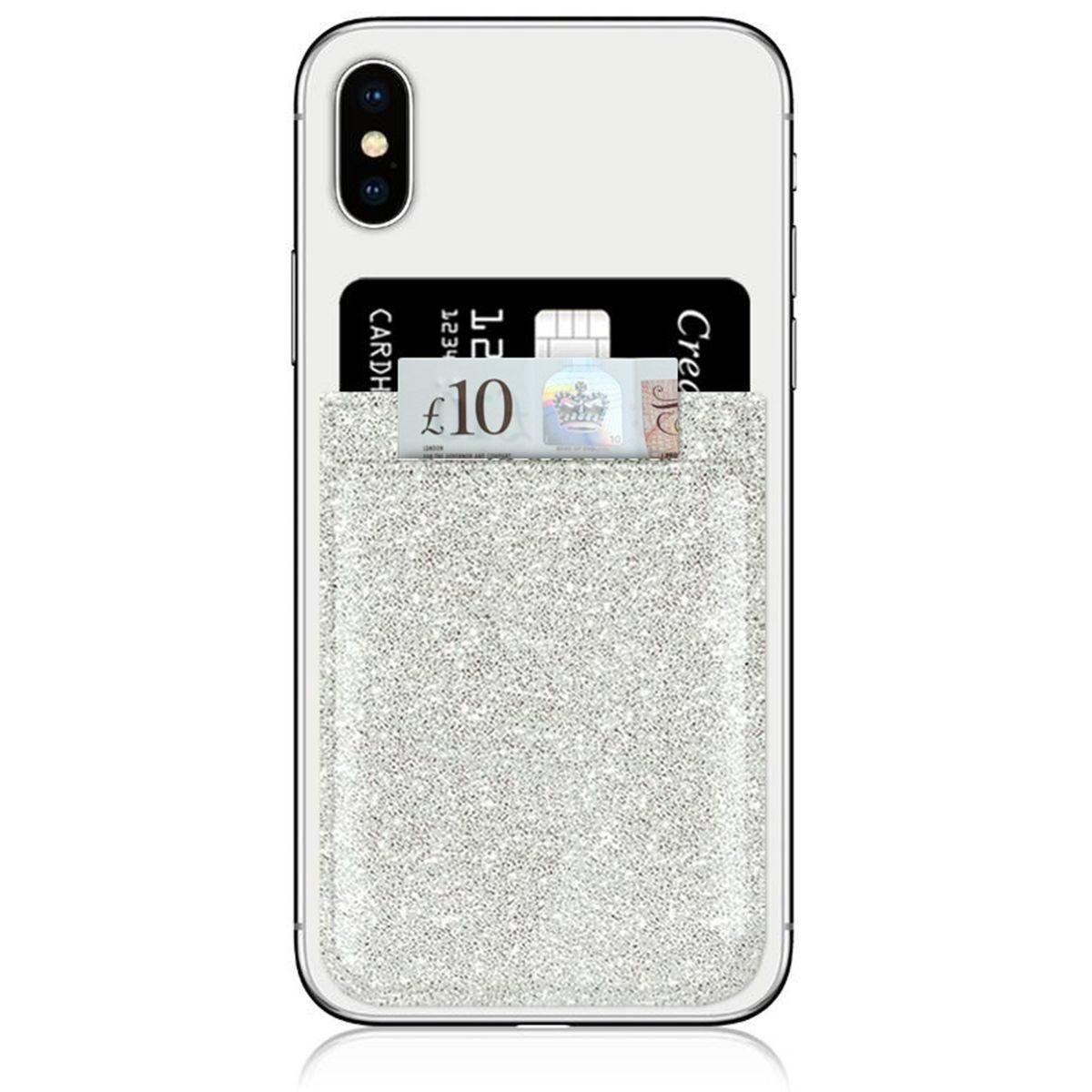 iDecoz Silver Glitter Phone Pocket