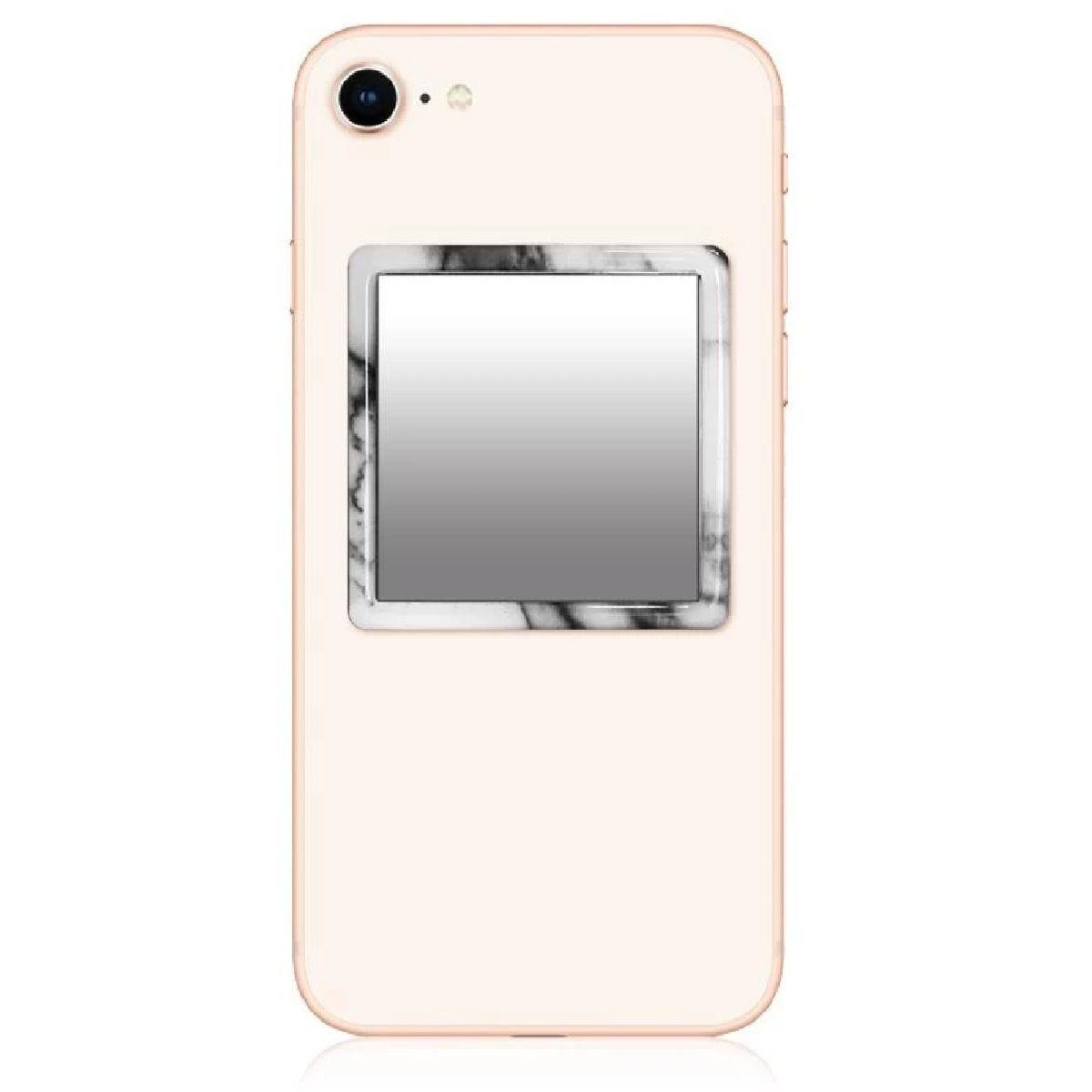 iDecoz White Marble Phone Mirror