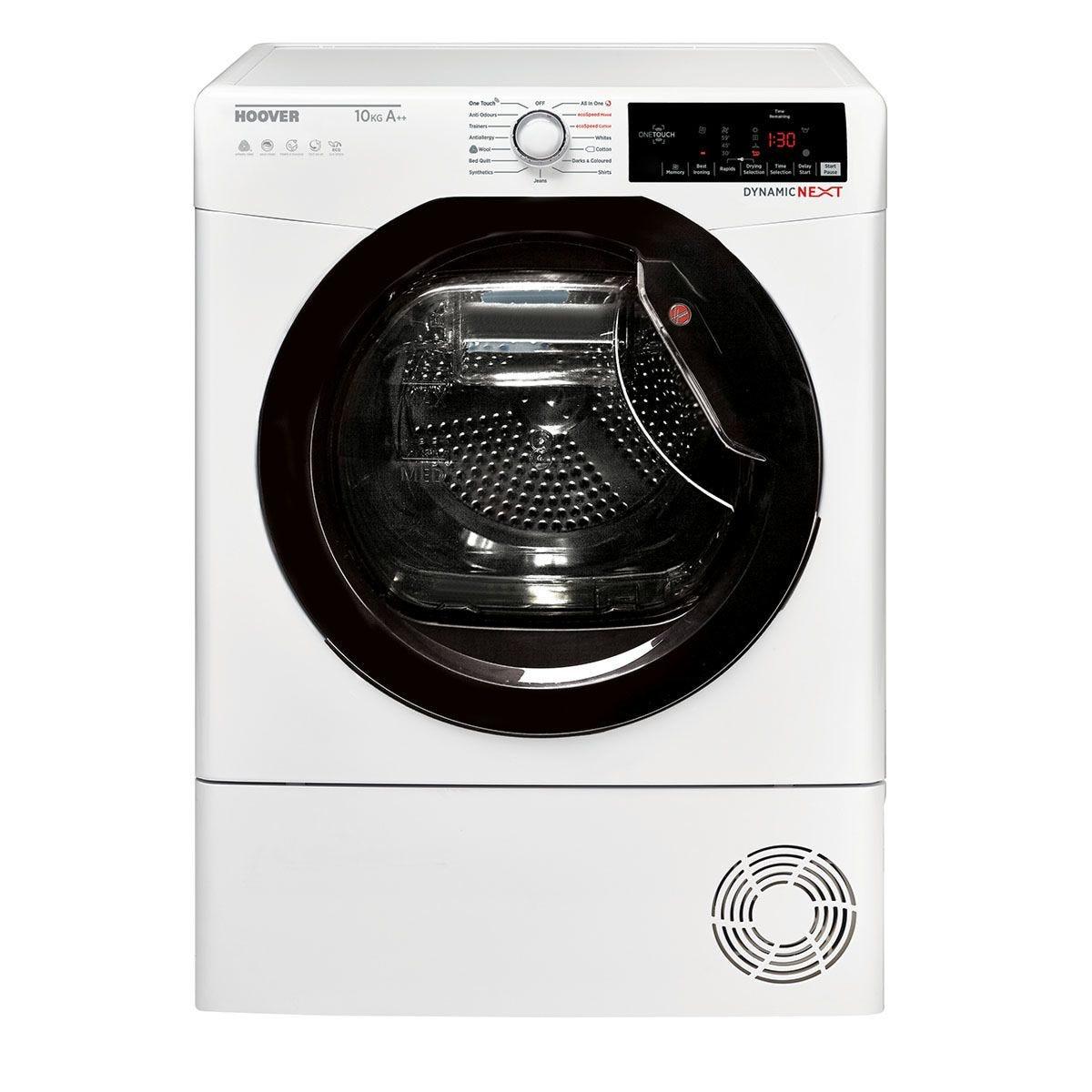 Hoover DX HY10A2TKE 10kg Dynamic Next Hybrid Heatpump Tumble Dryer - White